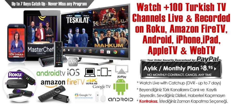 Giniko Turkish TV - Turk Kanallarini Canli(Live) & Kayitli(DVR